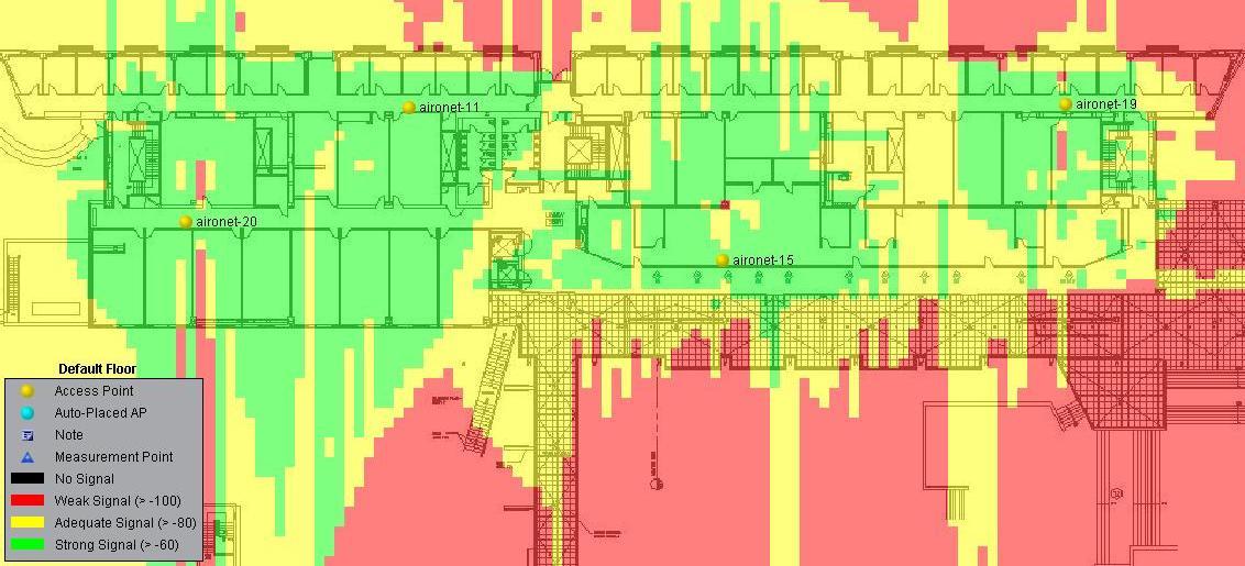 Comm Bldg WiFi Heat Map - Wifi map for windows